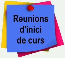 Reunions Inici De Curs