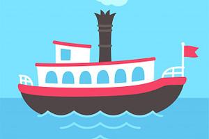 Barco Vapor Dibujos Animados 125371 202